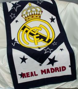 Полотенце велюровое пляжное Турция Real Madrid 75х150 см