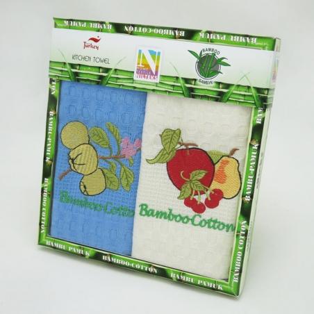 Набор полотенец кухонных ТМ Nilteks Bamboo-Cotton Fruits 2шт 40х60см