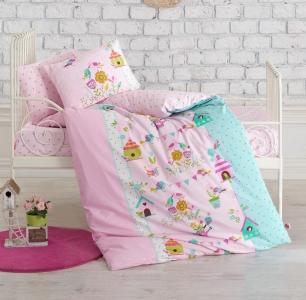Детский постельный комплект ТМ Cotton Box ранфорс Kusbahcesi Pembe