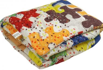 Одеяло детское силиконовое стеганое ТМ Руно Пазлы 140х105