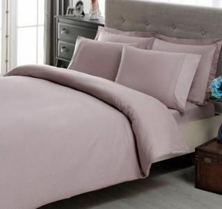 Постельное белье ТМ TAC сатин-страйп Premium Basic Lilac