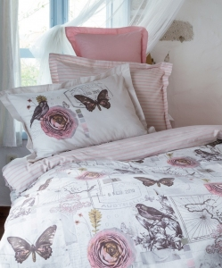 Постельное бельё ТМ Karaca Home ранфорс Birdy евро-размер