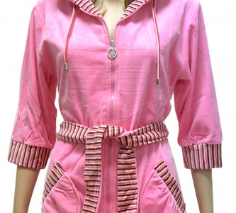 Халат велюровый ТМ Nusa розовый
