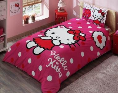 Подростковый постельный комплект ТМ TAС Hello Kitty Pink