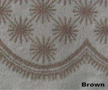 Полотенце ТМ Arya бамбук-жаккард Demet коричневое 50Х90