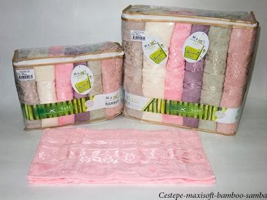 Набор полотенец из 6 штук Cestepe maxisoft Bamboo Samba