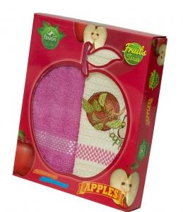 Набор полотенец кухонных ТМ Nilteks Fashion Series Fruits 2шт 50х70см яблоко
