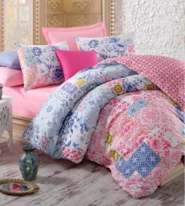 Постельное белье ТМ Cotton Box ранфорс Mosaic Pembe евро-размер