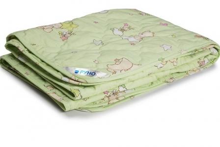 Одеяло детское шерстяное облегченное ТМ Руно салатовое