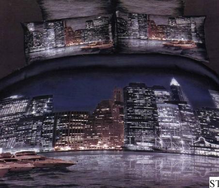Постельное бельё ТМ Love You Ночной город STP332 семейный размер