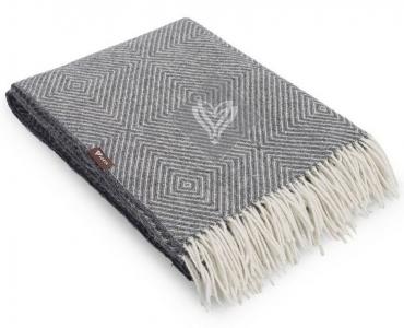Плед шерстяной ТМ Идея Wool Lille серый 140х200
