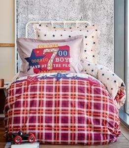 Подростковое постельное бельё ТМ Karaca Home Peace Bordo