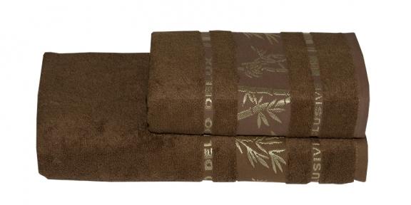 Полотенце ТМ Gursan Bamboo коричневое