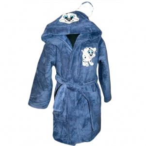 Халат детский серо-синий ТМ Nusa Пёсик