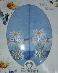 Набор полотенец ТМ Two Dolphins Daisy flowers 2шт blue