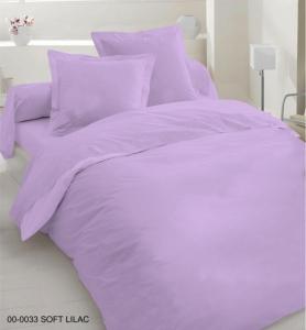 Постельное белье ТМ Nostra сатин гладкокрашеный 00-0033 Soft Lilac Active