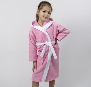 Халат махровый детский ТМ Lotus Зайка новый розовый