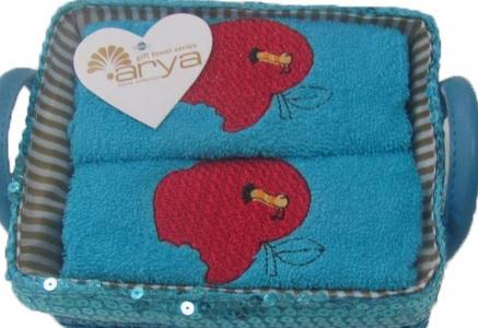 Набор полотенец кухонных 2шт ТМ Arya Aple голубой 40х60