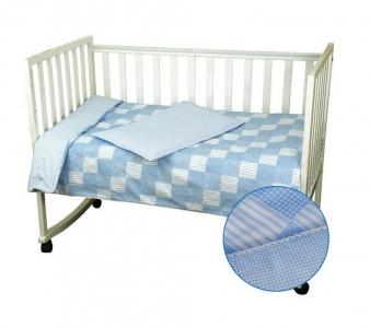 Детский постельный комплект ТМ Руно Клеточка Голубой