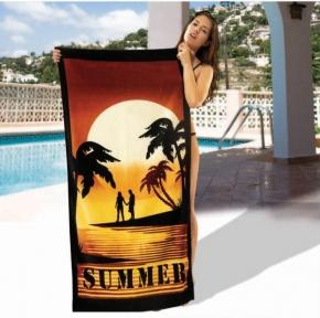 Полотенце велюровое пляжное Турция Summer 75х150 см