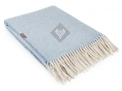 Плед шерстяной ТМ Идея Wool Alice голубой 140х200