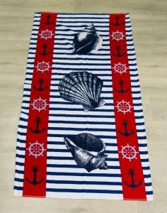 Полотенце велюровое пляжное Турция Anchor Shell 75х150