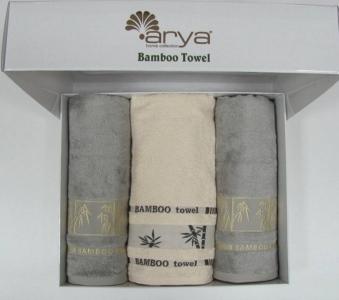 Набор полотенец 3шт ТМ Arya бамбук Bonita Ассотри