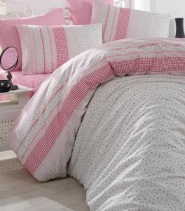 Постельное бельё ТМ Arya ранфорс Defne розовый