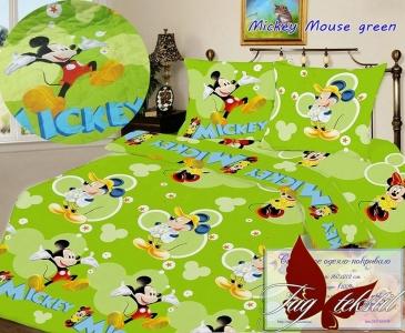 Покрывало стёганное ТМ TAG Mickey Mouse green 160х212