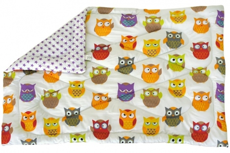 Одеяло детское силиконовое стеганое ТМ Руно Совы 140х105