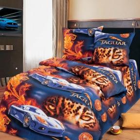 Подростковый постельный комплект ТМ ТOP Dreams Ягуар