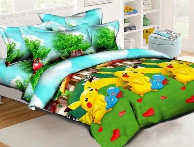 Подростковое постельное белье ТМ HomyTex Пикачу