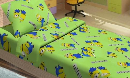 Подростковое постельное бельё ТМ Lotus ранфорс Minions happy зеленый
