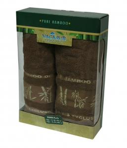 Набор полотенец из 2 штук ТМ Gursan Bamboo brown