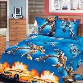 Подростковый постельный комплект ТМ ТOP Dreams Воин-робот