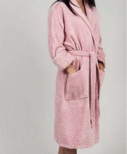 Халат махровый ТМ TAC бамбук женский Maison Pink S-M размер