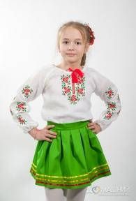 Вышиванка для девочки Лен Розочки 4002