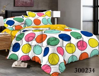 Постельное белье ТМ Selena сатин 300234 Разноцветные Круги