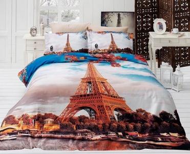 Подростковый постельный комплект ТМ First Choice сатин Paris City