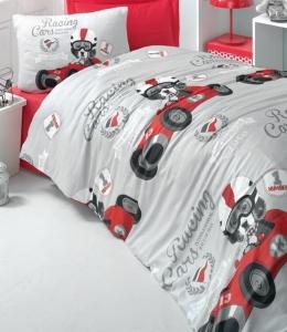 Постельное белье ТМ LightHouse ранфорс Racing cars евро-размер