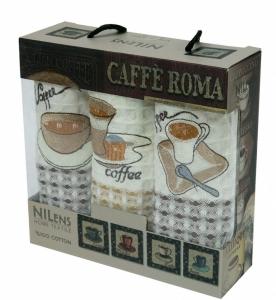 Набор полотенец кухонных ТМ Nilteks Caffe Roma 2 3шт 35х50см