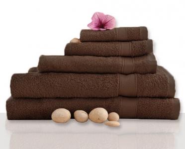 Полотенце махровое ТМ Novita гладкокрашенное dark brown