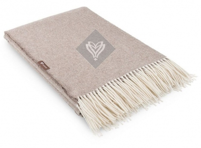 Плед шерстяной ТМ Идея Wool Alice бежевый 140х200