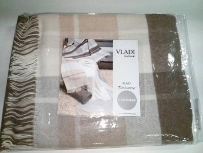 Плед кашемир-меринос ТМ Vladi элитная коллекция Тоскана 140х200