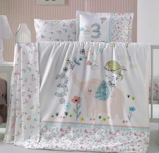 Детский постельный комплект ТМ Luoca Patisca Elefante