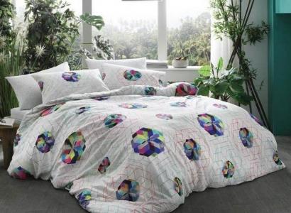 Постельное белье ТМ TAC бамбук Rainbow евро-размер
