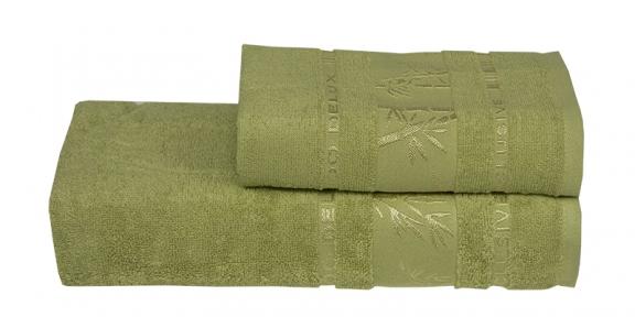 Полотенце ТМ Gursan Bamboo зеленое