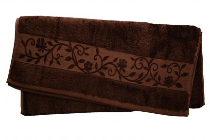 Полотенце ТМ Hanibaba Bamboo темно-коричневый