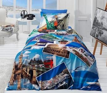 Подростковый постельный комплект ТМ First Choice сатин Holiday