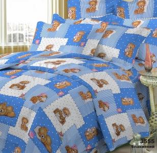 Постельное бельё ТМ Вилюта ранфорс детский (3555) голубой